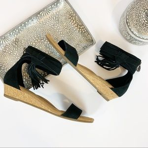 Koolaberra by UGG Saige Black Suede Sandals